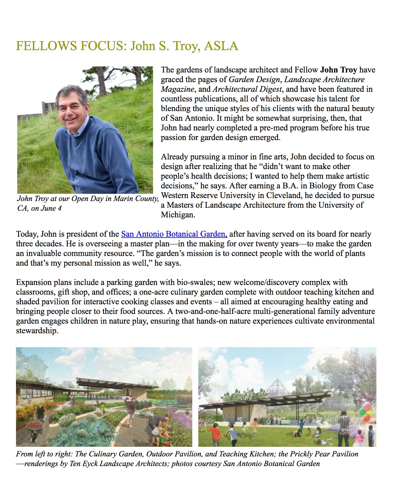 The Garden Conservancy: June Society Of Fellows Focus: John S. Troy, ASLA